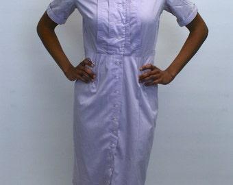 1960s Lavender Shirtdress / Day dress