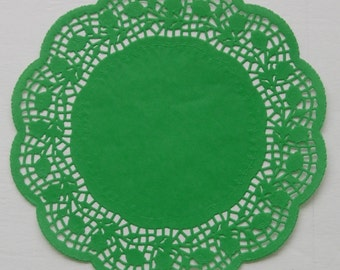 10 Green Paper doilies | 10.5 inch | Christmas | St Patricks Day | Holiday Decor | Table Decor