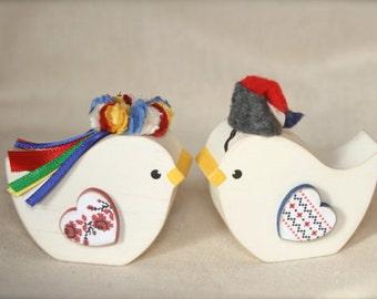 Ukrainian Poltava Wedding Birds Korovai or Cake Topper