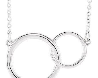 Sterling Silver Interlocking Circle Necklace