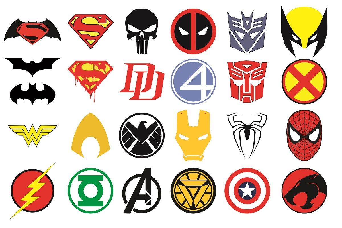 superhero logos vector superhero svg superhero clipart rh etsy com create own superhero logo create hero logo