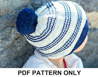 Knitting Pattern - Slouchy Hat Pattern - the SYDNEY slouchy (Toddler, Child & Adult sizes incl'd)