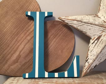 Giant Wooden Letter - L - Times Roman Font, 50cm high, 20 inch, any colour, wall letter, wall decor - various colours & finishes