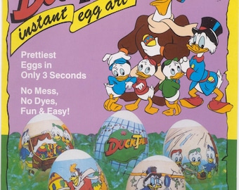 Vintage / Blast From the Past / Instant Egg Art (R) / 12 Egg Wrappers / Duck Tales / Shrink Wraps / Egg Sleeves / Instant Egg Art