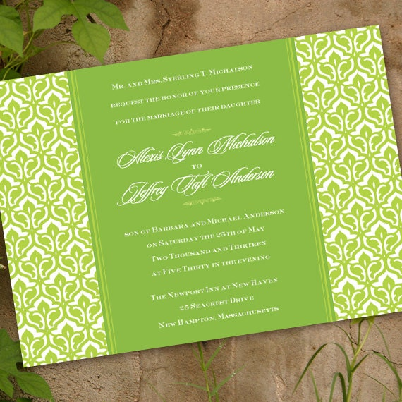 wedding invitations, lime wedding invitations, wedding package, bridal shower invitations, wedding shower invitations, nurses luncheon IN186