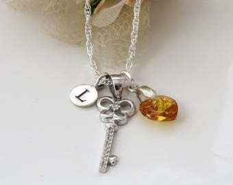 personalized silver angel necklace sterling silver little