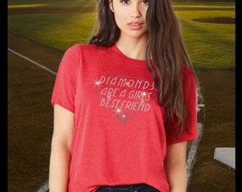 Diamonds are a GIRLS BEST FRIEND Rhinestone T-shirt
