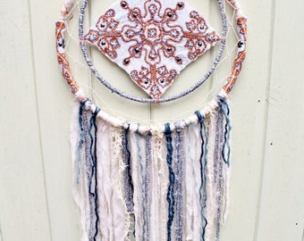Large Recycled/Upcycled Dreamcatcher