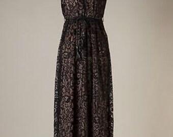 Empire Lace Dress, Black Empire Dress, Black Lace Dress, Sleeveless Empire, Sleeveless Lace,Black Lace Empire,Empire Midi Dress,Gift for Her