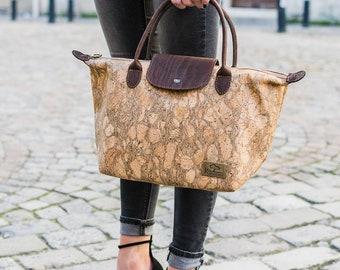 Vegan natural cork handbag
