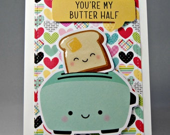 You're my Butter Half Punny Valentine's Day Card