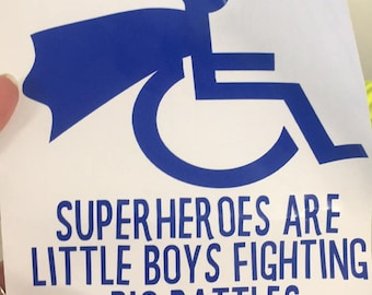Superhero Wheelchair Decal