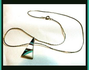 Inlaid Stone Necklace VJB0010