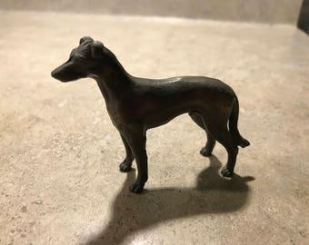 Metal Greyhound Dog Figure