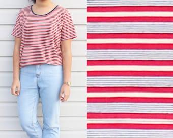 Tomboy Boxy Stripe Top