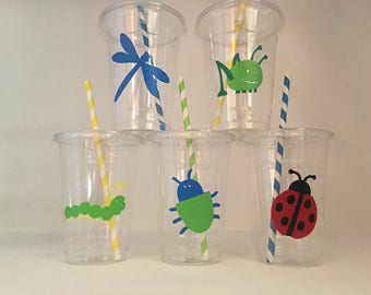 Bug Party Cups, Insect party, Bug Birthday Party, Insect Birthday Party