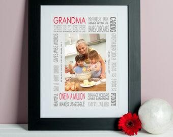 Grandma Loves Photo Print - Gift for Grandma - Grandma Photo Gift - Grandma Gift - Grandmother Gift - Custom Mom Print