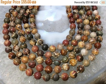 50% Mega Sale 7-8mm Cherry Creek Jasper Round Gemstone Beads