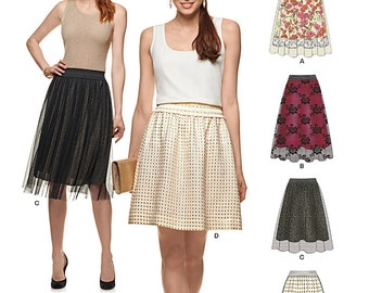 New Look Pattern 6327 Misses' Skirts with Length and Overskirt Variations