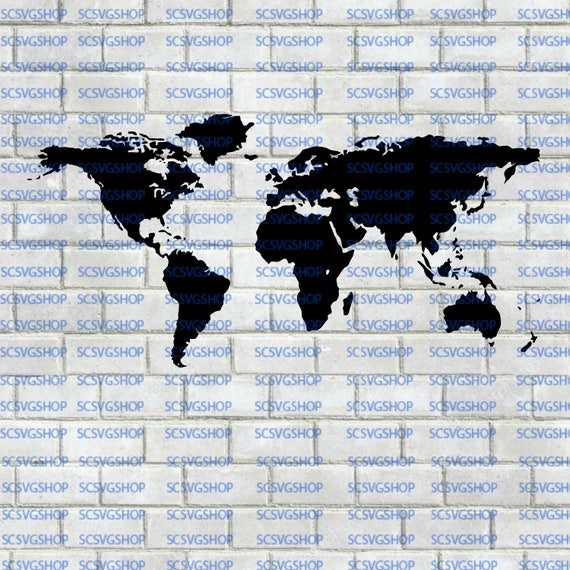 World map cut file north america south america europe asia world map cut file north america south america europe asia africa australia svg silhouette cut file diy print cricut vector from scsvgshop on gumiabroncs Choice Image