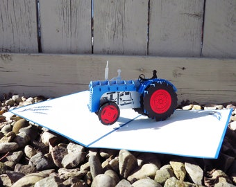 Tractor 3D Pop Up Card, Father's Day card, Farther's Day card, birthday farming card, farming pop up card, tractor 3D card, pop up card