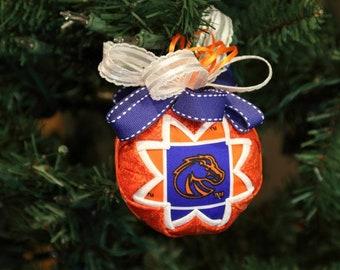 Boise State University Broncos Orange and Blue Christmas Tree Ornament