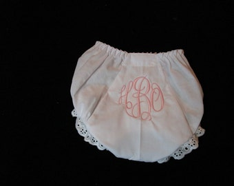 Baby Girl Bloomers-Personalized Baby Girl Bloomers-Baby Girl Diaper Cover-Monogrammed Bloomers-Personalized Girl Diaper Cover-