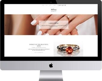 Mélissa - Minimal Blogger Template Responsive Design Custom Blogger Design Responsive Blogger template Blogger theme premade
