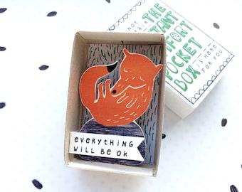 Fantastische Mr Fox - The Instant Komfort Pocket Box - alles wird in Ordnung sein - Trost oder aufzumuntern Box - Sympathie, Geschenk
