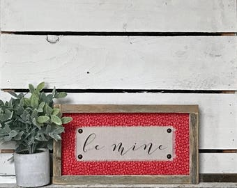 LIMITED PRODUCTION // MINI Valentine // 13 x 7 Handmade Sign
