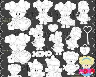 Little Sweethearts Color Me Exclusive Clipart