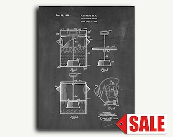 Patent Print - Dry Cleaning Device Patent Wall Art Poster