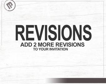 Extra Revisions for your Invitation