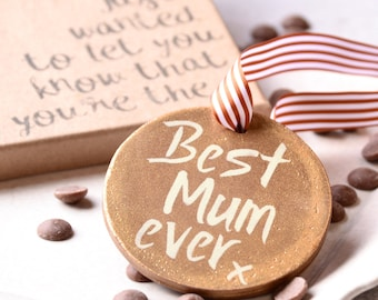 Best Mum Ever Chocolate Medal - Chocolate Gift for Mum - Birthday Gift for Mum - Mothers Day Gift - Fairtrade - Belgian Milk Chocolate