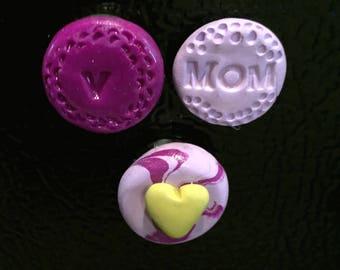 Purple Mom Magnets