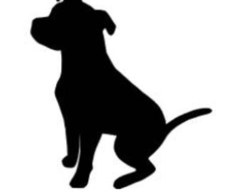 Custom Dog Breed Silhouette Decal / Sticker / Iron On