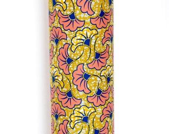 Ossu lampadaire - abat-jour de lampe de sol - rose & or abat-jour - africain impression - Eclairage - décoration - lampe abat-jour UK - or - fleurs roses
