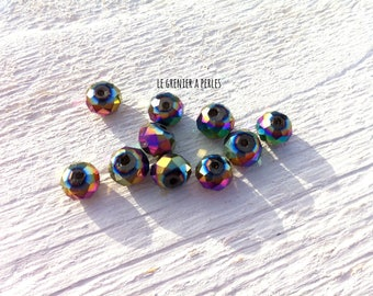 ABACUS 8 mm teal AB beads X 10