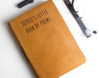Personalized Handmade Leather Journal/Notebook
