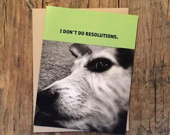 Funny Dog Holiday Card
