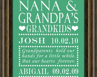 Grandparents Day - Gifts for Grandparents - Gift For Mom - Gifts for Grandparents - Grandma - Grandparent Gift - Grandparents -  Print