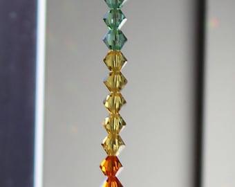Swarovski Crystal Rainbow Burst Suncatcher, Rainbow Maker, Window Prism for Home or Car
