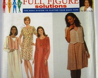 Womens Dress 4 Styles Sizes 18W 20W 22W 24W Simplicity Pattern 7093 UNCUT