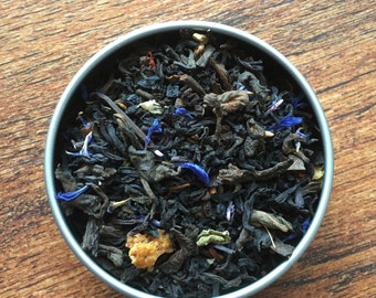 Rhysand - ACOMAF and ACOTAR Inspired Loose Leaf Tea Blend - Earl Grey - Blackberry - Pu Erh - Black Tea