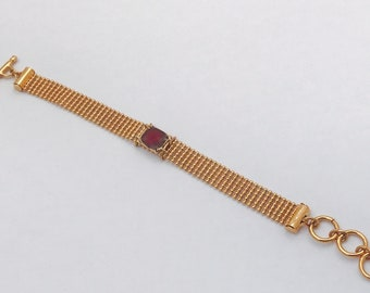 Janine Burgundy bracelet