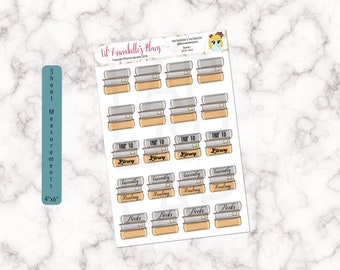 Books Planner Stickers / Currently Reading / Trip to Library / Stack of Books