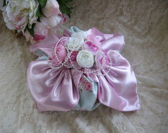 Free shipping! decorative purse shabby pink and blue