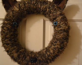 SALE*** 10% OFF  Big Bad Wolf Wreath 14in