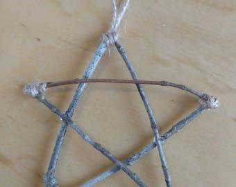 Rustic Twig Christmas Ornament-Star Ornament