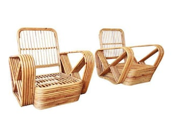 Awesome SOLD   Bamboo Pretzel Chairs Attributed To Paul Frankl   A Pair